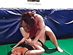 Female wrestling with ... video