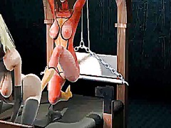 3d superhero babe gets whipped and has her pussy rubbed