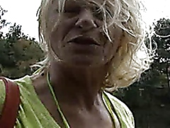 granny, outdoors, mature,
