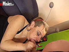 Sexy amateurs getting banged in a basement orgy