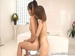 Yobt Movie:2 sexy japanese honeys have le...