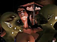 Thumb: Lara with two monsters