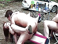 Camping group sex