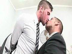 Horny gay manager seduces intern