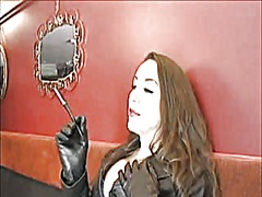 Voyeur Hit Movie:Leather Lady Smokin' and Enjoy...
