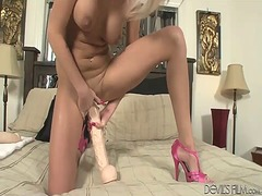 See: Gorgeous blonde fucks ...