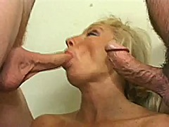 mature, hardcore, threesome, blonde
