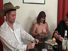 Granny plays strip poker then double ...