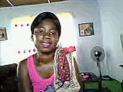 African girl take of t... video