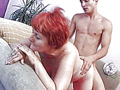 Xhamster Movie:Beautiful red-haired granny