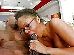Horny ebony cougar sed... video