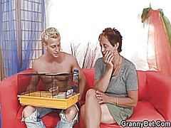 Xhamster Movie:Granny neighbor jumps at his cock