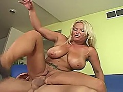 Milf licks his ass and... video