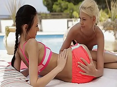 Ah-Me Movie:2 lesbians in a hot girl on gi...