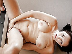 Thumb: Brunette coed holly mi...