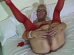 Red stockings granny p...