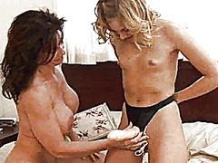 Daughter and milf lesbian sex