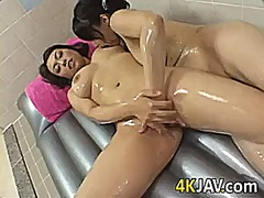 Oiled up japanese lesbians