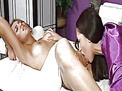 Lesbian oil massage #2 - part 2