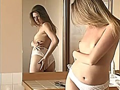 Xhamster - Blond brushes hairy pussy