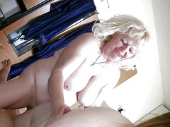 Very chubby girl and old granny suck ...
