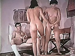 group, milf, hairy, vintage