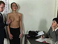 Humiliating nude job interview