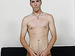 Thin twink strokes his... video