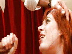 Yobt Movie:Freaky ginger gal licks bbc an...
