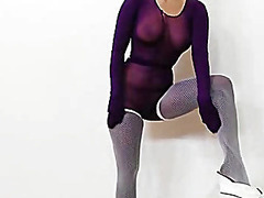 pantyhose, brunette, tight, pussy, nylons,