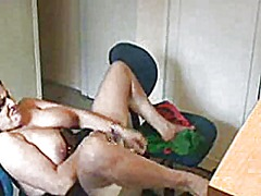 Masterbating for webcam