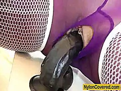 Keez Movies Movie:Riding a rubber cock in nylons