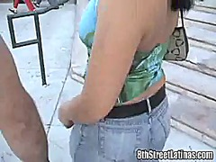 Hispanic pussy has rid of her dress and has inside her knees for blow the whistle