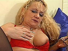 mature, old, pussy, glasses, german