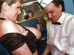 WinPorn Movie:Big breasted waitress enjoys a...