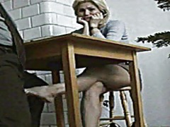 Blond student does a f... video