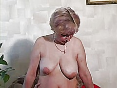 Russian blonde mature fucked by a lar...