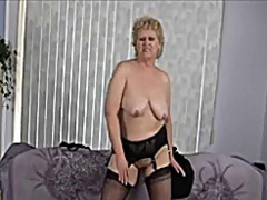 Thumb: Granny does striptease
