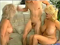 Vintage aunt and mom threesome with big clit