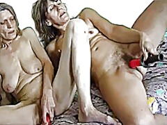 Hot skinny granny anf ... video