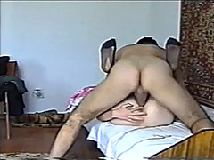 Submissive wife tied and ass fuc...