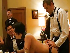 Yobt Movie:Dark haired girl inside stocki...