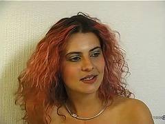Hot euro redhead gets ... video
