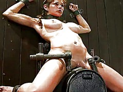 Big-titted bound lass ...