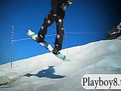 See: Hotbabes snowboarding ...