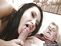 threesome, granny, mature