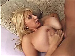 Blonde milf gets titty... preview