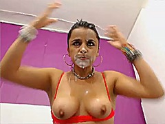 Thumb: Mature squirting and d...