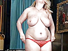 Chubby blonde showing ... preview