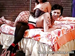Stockings babe gets a otk ... - 11:05